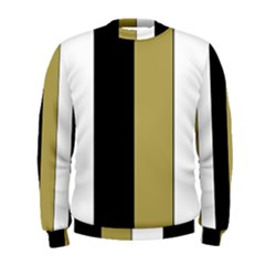 Black Brown Gold White Stripes Elegant Festive Stripe Pattern Men s Sweatshirt