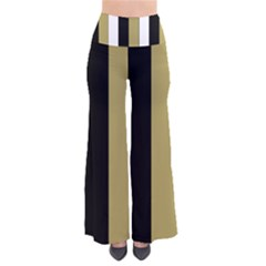 Black Brown Gold White Stripes Elegant Festive Stripe Pattern Pants