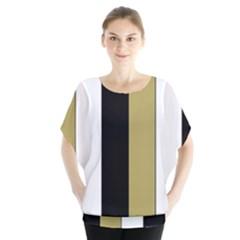 Black Brown Gold White Stripes Elegant Festive Stripe Pattern Blouse