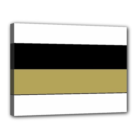 Black Brown Gold White Horizontal Stripes Elegant 8000 Sv Festive Stripe Canvas 16  x 12