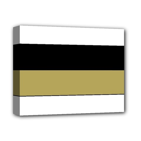 Black Brown Gold White Horizontal Stripes Elegant 8000 Sv Festive Stripe Deluxe Canvas 14  x 11