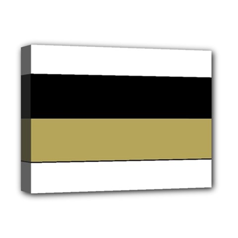 Black Brown Gold White Horizontal Stripes Elegant 8000 Sv Festive Stripe Deluxe Canvas 16  x 12