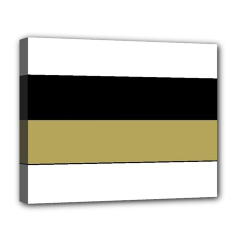 Black Brown Gold White Horizontal Stripes Elegant 8000 Sv Festive Stripe Deluxe Canvas 20  x 16