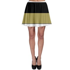 Black Brown Gold White Horizontal Stripes Elegant 8000 Sv Festive Stripe Skater Skirt
