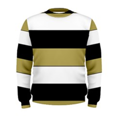 Black Brown Gold White Horizontal Stripes Elegant 8000 Sv Festive Stripe Men s Sweatshirt