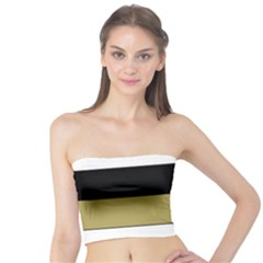 Black Brown Gold White Horizontal Stripes Elegant 8000 Sv Festive Stripe Tube Top