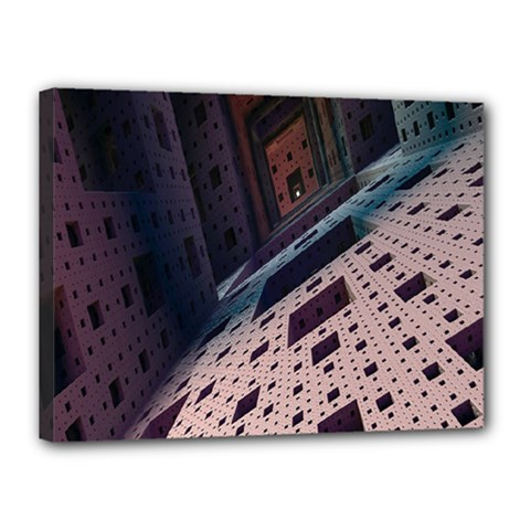 Industry Fractals Geometry Graphic Canvas 16  x 12