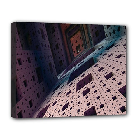 Industry Fractals Geometry Graphic Deluxe Canvas 20  x 16