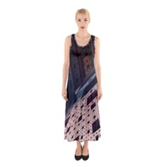 Industry Fractals Geometry Graphic Sleeveless Maxi Dress
