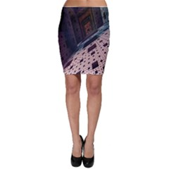 Industry Fractals Geometry Graphic Bodycon Skirt