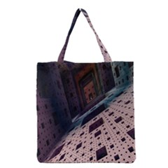 Industry Fractals Geometry Graphic Grocery Tote Bag