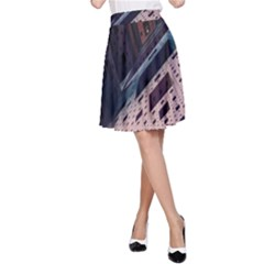 Industry Fractals Geometry Graphic A-Line Skirt