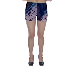 Industry Fractals Geometry Graphic Skinny Shorts