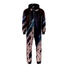 Industry Fractals Geometry Graphic Hooded Jumpsuit (Kids)