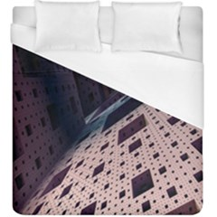 Industry Fractals Geometry Graphic Duvet Cover (King Size)