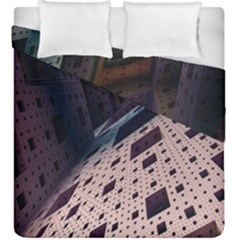 Industry Fractals Geometry Graphic Duvet Cover Double Side (King Size)