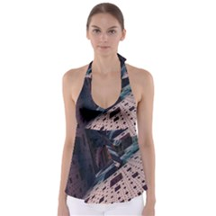 Industry Fractals Geometry Graphic Babydoll Tankini Top