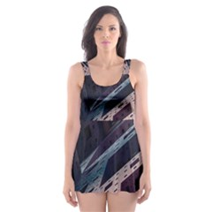 Industry Fractals Geometry Graphic Skater Dress Swimsuit