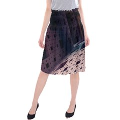 Industry Fractals Geometry Graphic Midi Beach Skirt