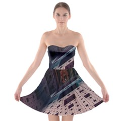 Industry Fractals Geometry Graphic Strapless Bra Top Dress