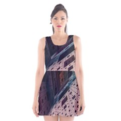 Industry Fractals Geometry Graphic Scoop Neck Skater Dress