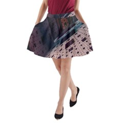 Industry Fractals Geometry Graphic A-Line Pocket Skirt