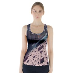 Industry Fractals Geometry Graphic Racer Back Sports Top