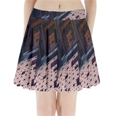 Industry Fractals Geometry Graphic Pleated Mini Skirt
