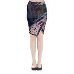 Industry Fractals Geometry Graphic Midi Wrap Pencil Skirt