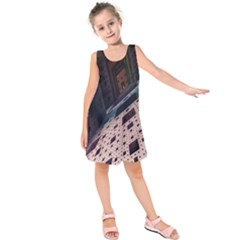 Industry Fractals Geometry Graphic Kids  Sleeveless Dress