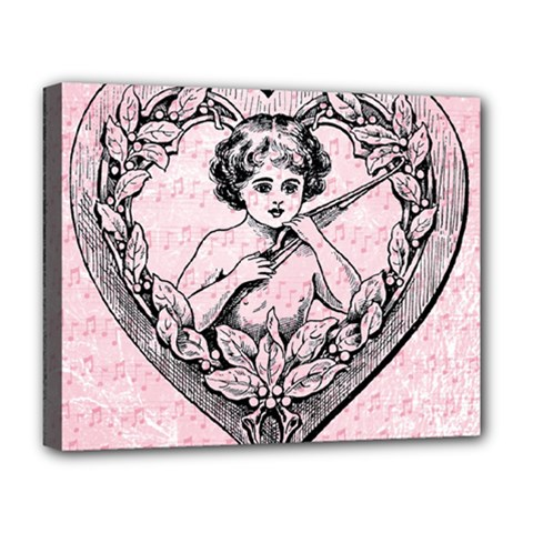 Heart Drawing Angel Vintage Deluxe Canvas 20  x 16