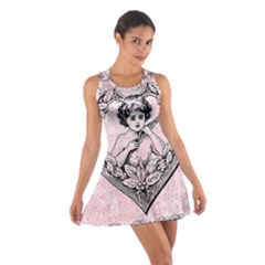 Heart Drawing Angel Vintage Cotton Racerback Dress