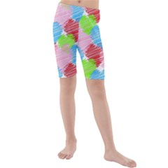 Holidays Occasions Valentine Kids  Mid Length Swim Shorts