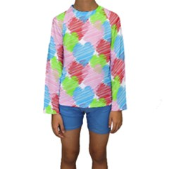 Holidays Occasions Valentine Kids  Long Sleeve Swimwear
