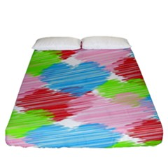 Holidays Occasions Valentine Fitted Sheet (King Size)