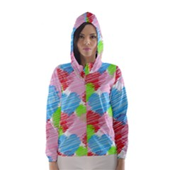Holidays Occasions Valentine Hooded Wind Breaker (Women)