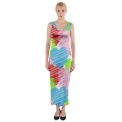 Holidays Occasions Valentine Fitted Maxi Dress