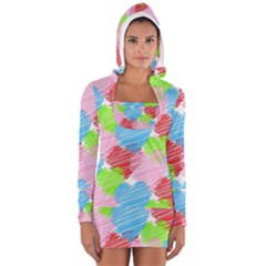 Holidays Occasions Valentine Women s Long Sleeve Hooded T-shirt
