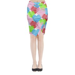 Holidays Occasions Valentine Midi Wrap Pencil Skirt