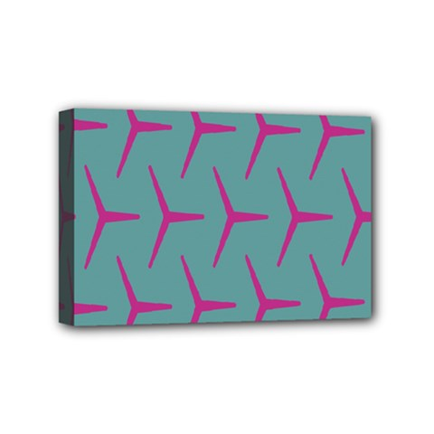 Pattern Background Structure Pink Mini Canvas 6  x 4