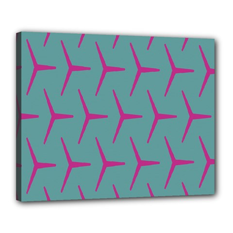 Pattern Background Structure Pink Canvas 20  x 16