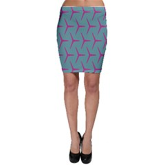 Pattern Background Structure Pink Bodycon Skirt