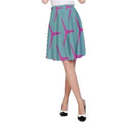 Pattern Background Structure Pink A-Line Skirt