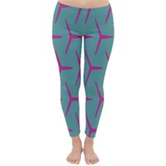 Pattern Background Structure Pink Classic Winter Leggings