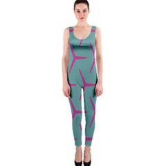 Pattern Background Structure Pink OnePiece Catsuit