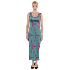 Pattern Background Structure Pink Fitted Maxi Dress