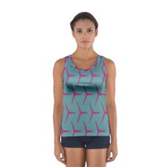 Pattern Background Structure Pink Women s Sport Tank Top
