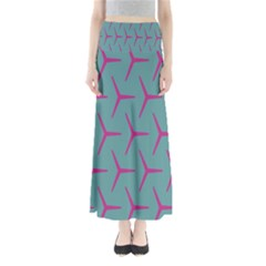 Pattern Background Structure Pink Maxi Skirts