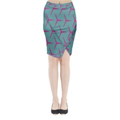 Pattern Background Structure Pink Midi Wrap Pencil Skirt