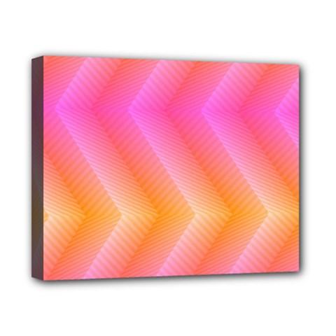 Pattern Background Pink Orange Canvas 10  x 8